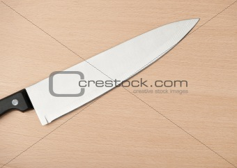 Knife and board for cutting food