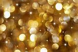 Golden holiday lights background