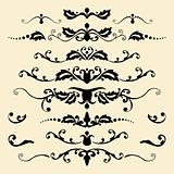 Set of antique vector ornaments