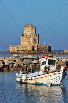 Fishing boat in Methoni