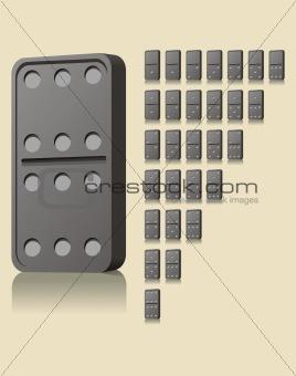 Black domino blocks