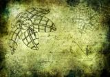 Steampunk grunged background