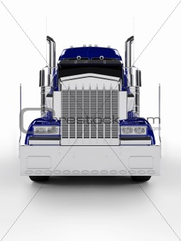 Blue heavy truck