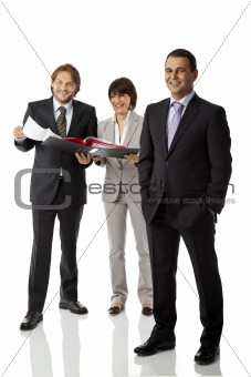 positive business team isolated