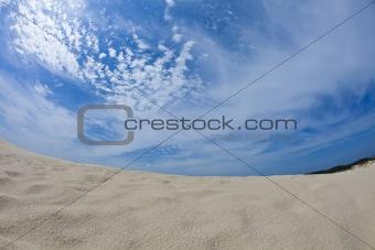 Blue sky & Sandy beach