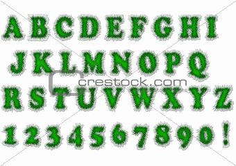 Green font