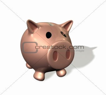 3d render piggy bank illustration