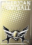 american football golden poster background 2