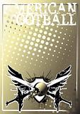 american football golden poster background 1