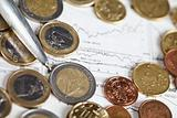 Euro coins and business indicators
