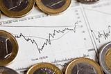 Euro coins, money as a medium of exchange