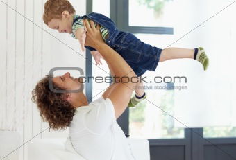 dad and young boy
