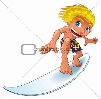 Baby surfing