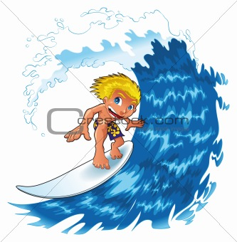 Baby Surfing - Wave