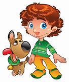 Boy with Dog friend