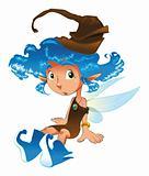Fairy is sat