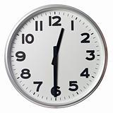 Half past twelve