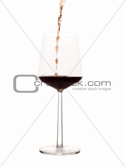 Poured wine