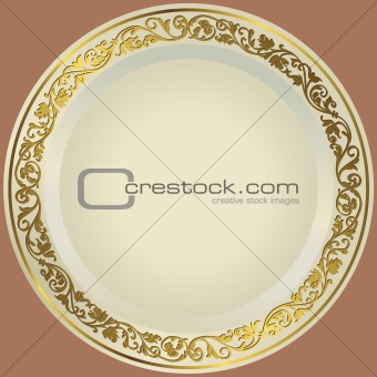 Old-fashioned white plate