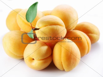 Apricot; objects on white background