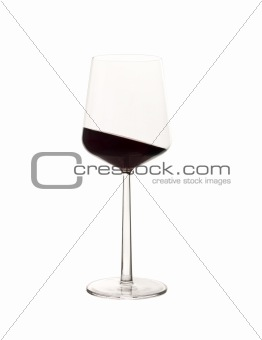 An Asquint glass of red wine