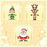 SantaClaus, Rudolph and Elf