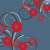 abstract floral design with flowers