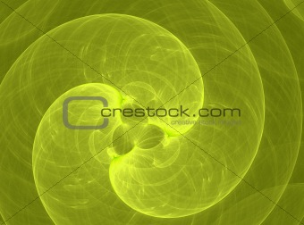 Abstract yellow spiral wave background