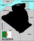 Algeria Map Black