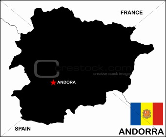 Andorra Map Black