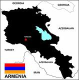 Armenia Map Black