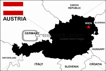 Austria Map Black