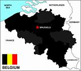 Belgium Map Black