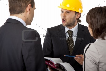 angry contractor shouting