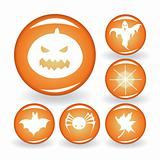 A set of buttons for Halloween