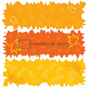 Three color autumnal banners