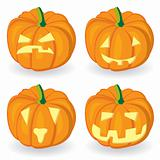 Pumpkin icon set for Halloween