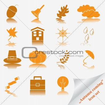 """Autumn coming soon"" icon set"