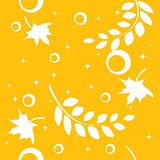 Seamless autumnal pattern with leaves