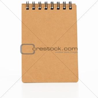 Black spiral bound notepad