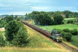 Freight diesel train