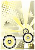 dj golden poster background 4