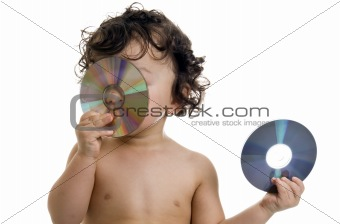 Baby with disk.