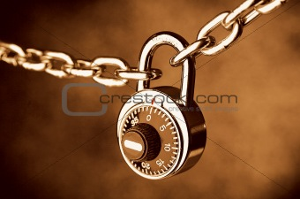 A Chain locked by a lock