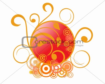 abstracte floral ornaments