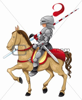 Medieval Knight On Horse Knight and horse