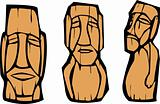 Group of Moai