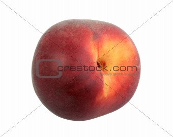 Single dark-red peach.