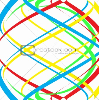 Abstract colour lines. Vector illustration
