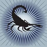 hurrying Scorpio. Vector illustration